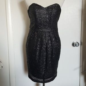 Asos Sequin Black Sleeveless Party Dress Size 2
